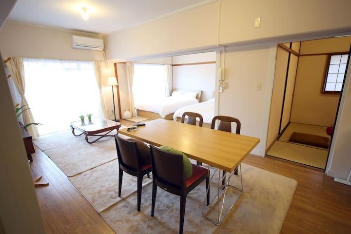 Modern Tatami Room  in Hakata - Fukuoka-shi - Leilighet