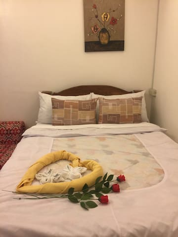 Double bed room 2nd floor  with A/C