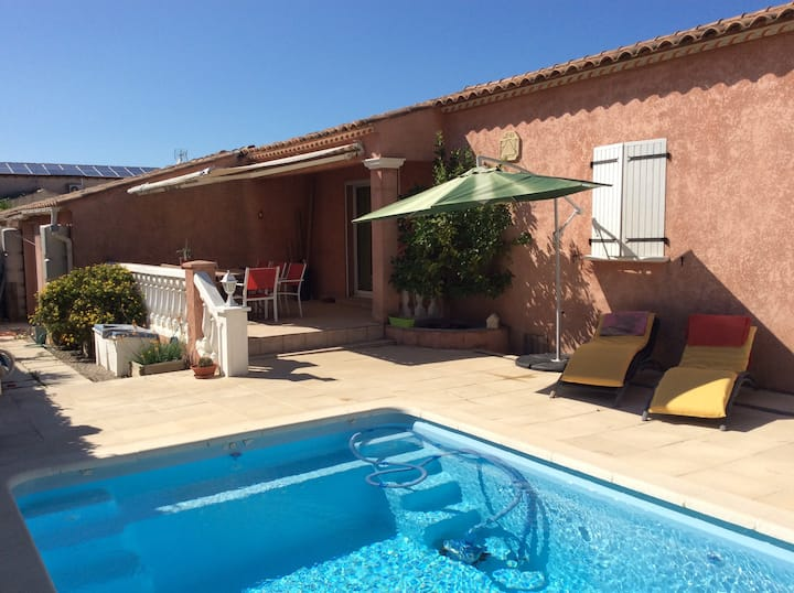 Villa avec piscine entre Nimes et Montpellier