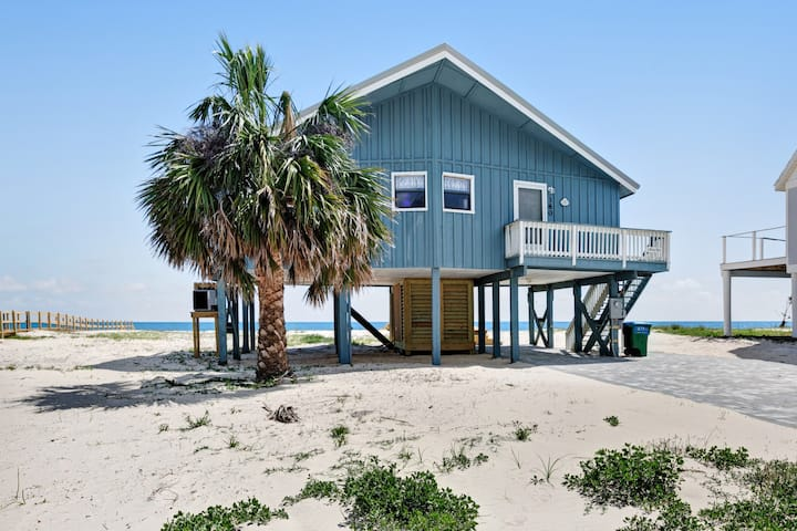 Dog-friendly, Gulf-front home w/ private boardwalk & views