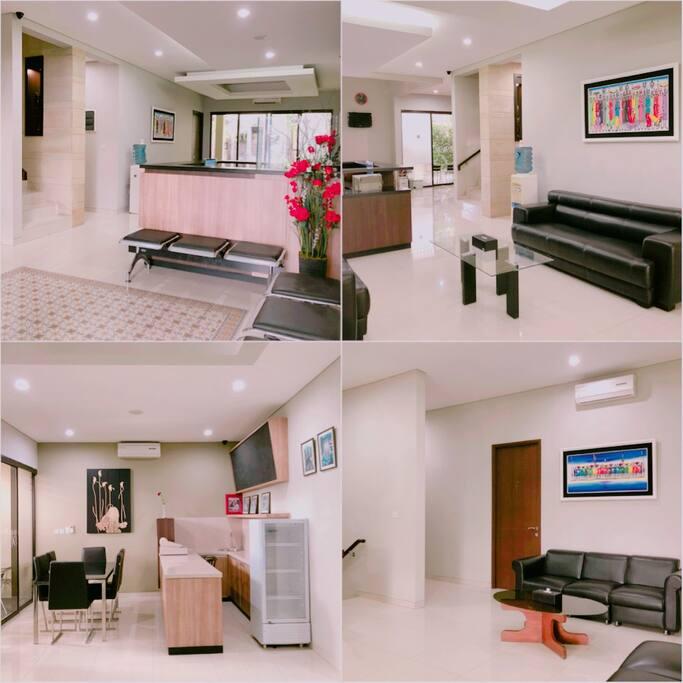 Reception, 1st Floor Lounge, Snack Corner, 2nd Floor Lounge