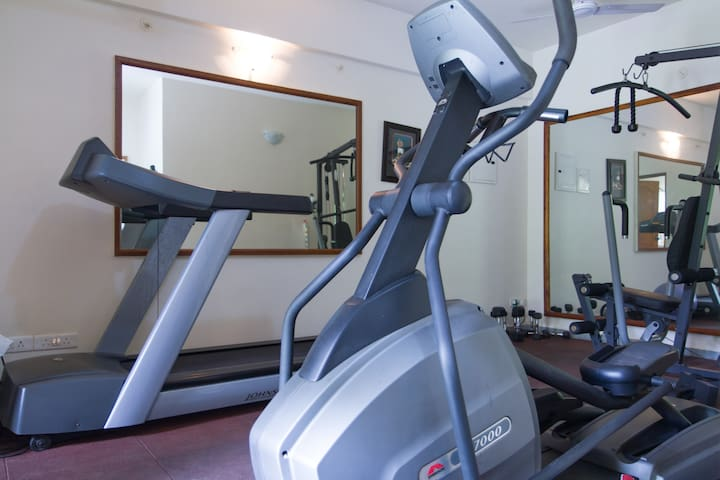 The gym downstairs.