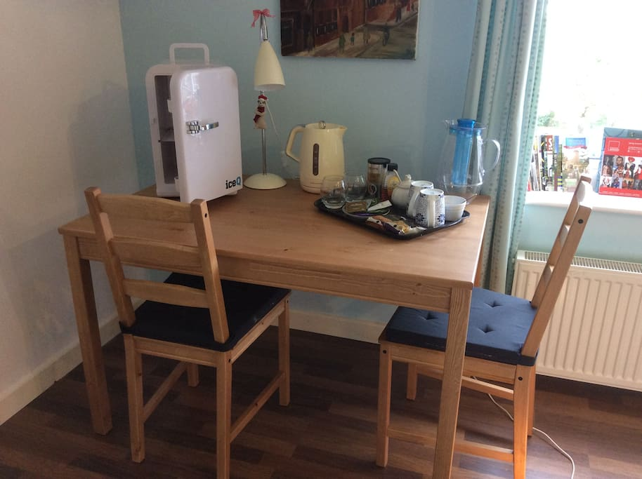 Tea/Coffee making facilities, and your private little fridge