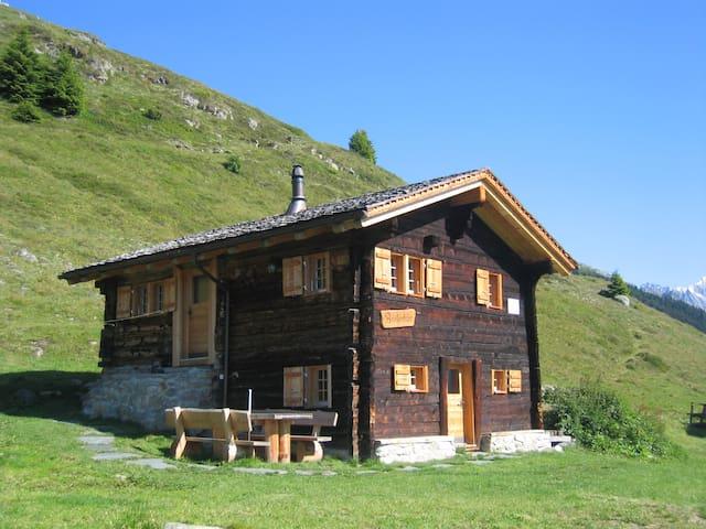 Alphütte Bielerhüs, Aletsch Arena, Fiescheralp - Fiesch - Baraka