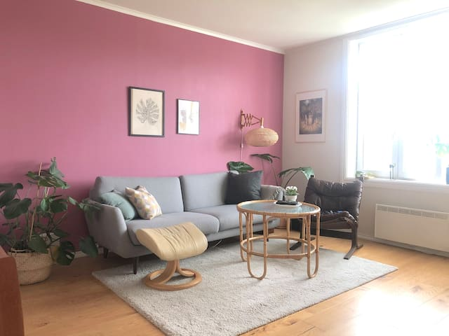 Central, spacious top floor apartment in Trondheim