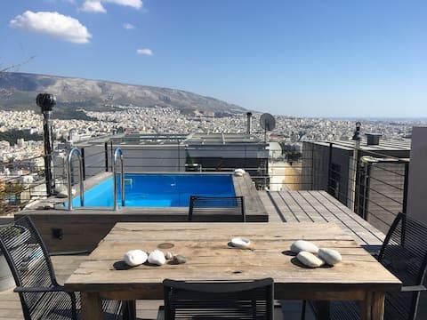 Elegant apartment  in Kolonaki with private pool
