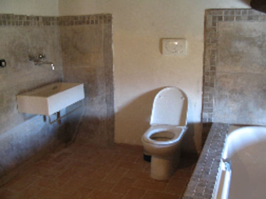 Main bathroom including shower and bidet