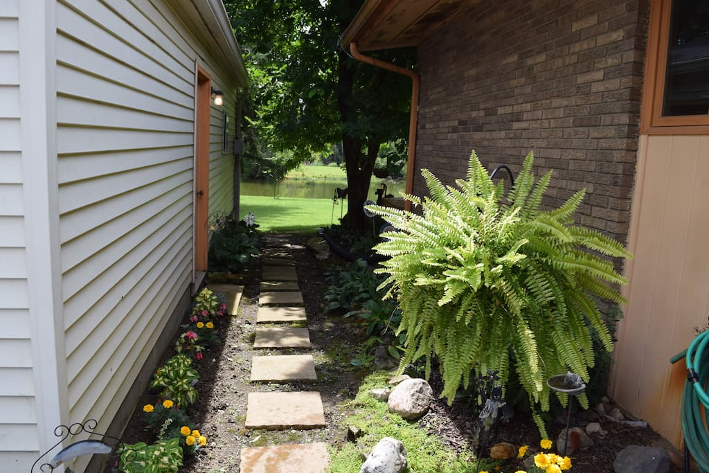 Walk way to private entrance