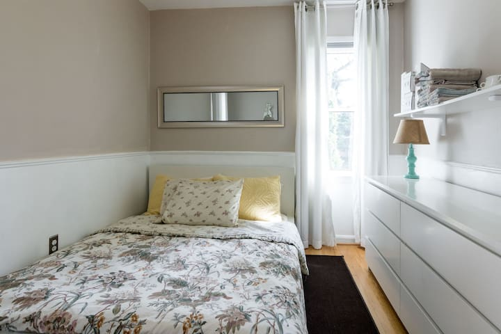 Light & Bright Bedroom:  Full Size Platform Bed, Desk Area/Dressing Table