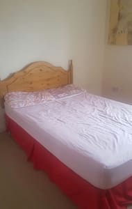Cozy double bed with parking, Internet - Apartment