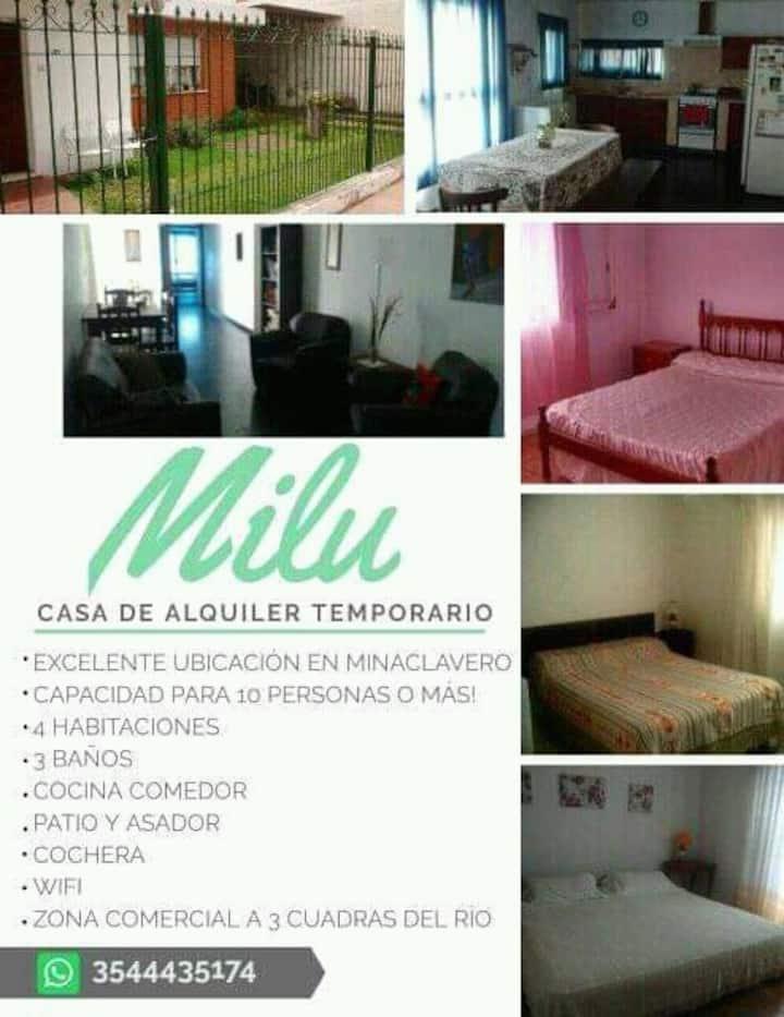 Casa Milu Mina Clavero, Córdoba. Para 12 personas