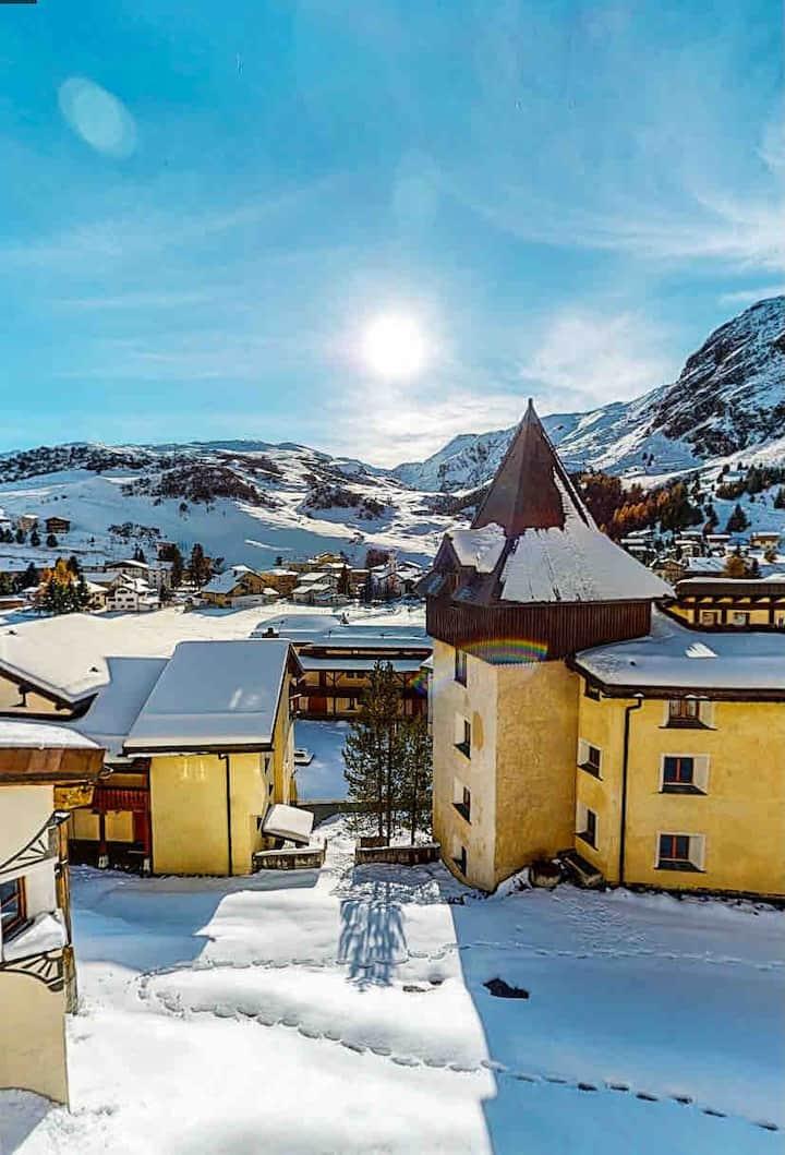 Gemütliche Ferienwohnung mit Blick in die Berge