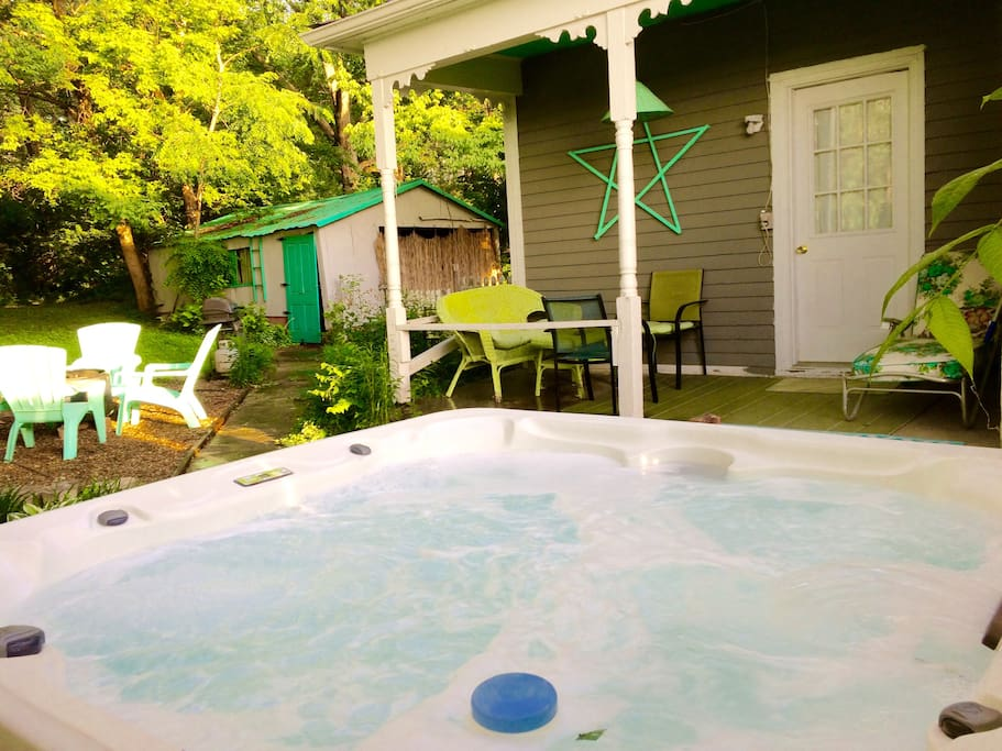 Are you ready to get wet?  Our guest love our hot tub and of course the rest of the space too!