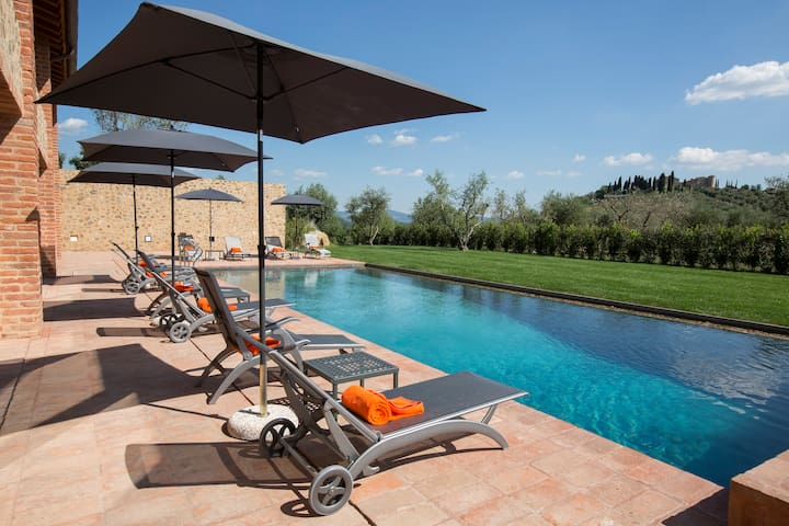 Amazing Villa up to 20 people in Tuscany - Poggi del Sasso - Casa de camp