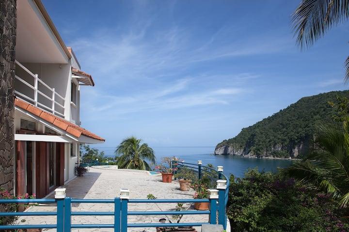 Maison de vacances avec vue magnifique sur la mer