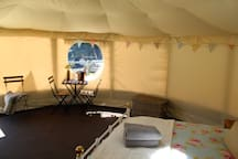 Spacious Yurt with all the luxury equipment.