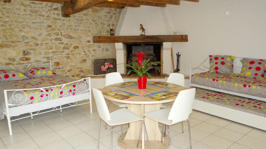 studio 30 m2 pour 4 personnes dans petit village - Luchat - Byt