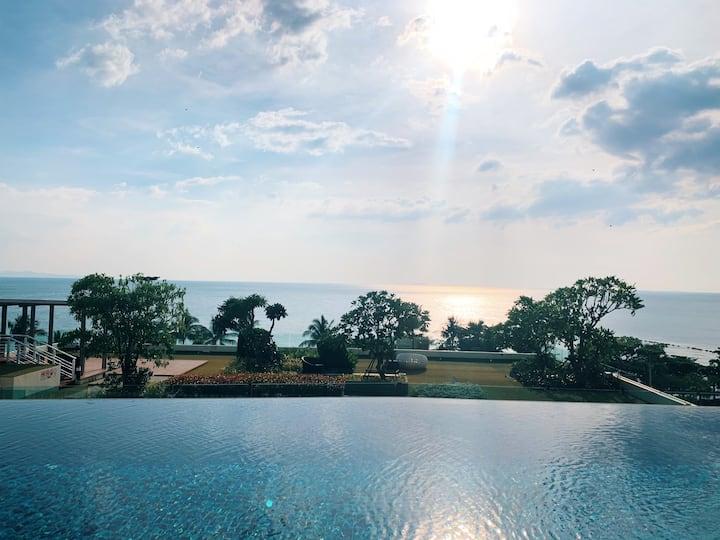 Cetus in Pattaya! 小众绝美双泳池空中花园奢华公寓!安静&便捷