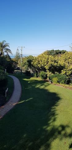 Garden and ocean glimpses
