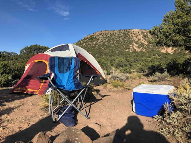 Hikers By Light Tent under stars 2 nights for 1