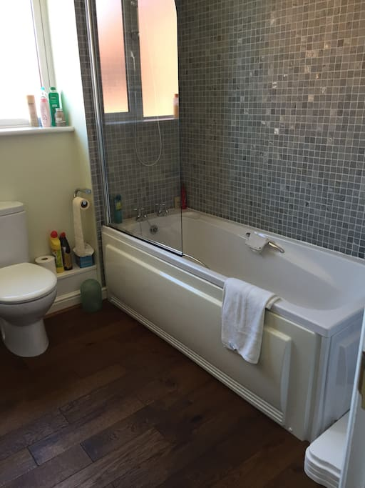 Family bathroom for guest use