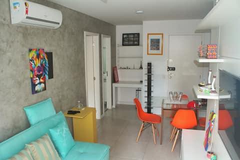 Lapa Mood: confortável quarto e sala com piscina!