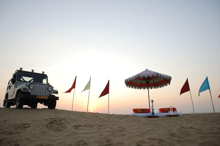 Bhati Desert Camp Samp Jaisalmer Sand Dune Tent