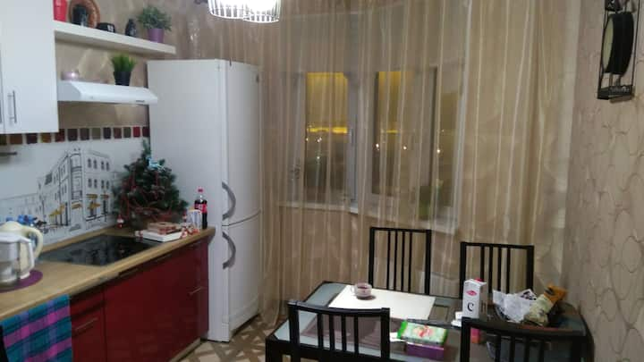New cosy studio in the town of Moskovskiy