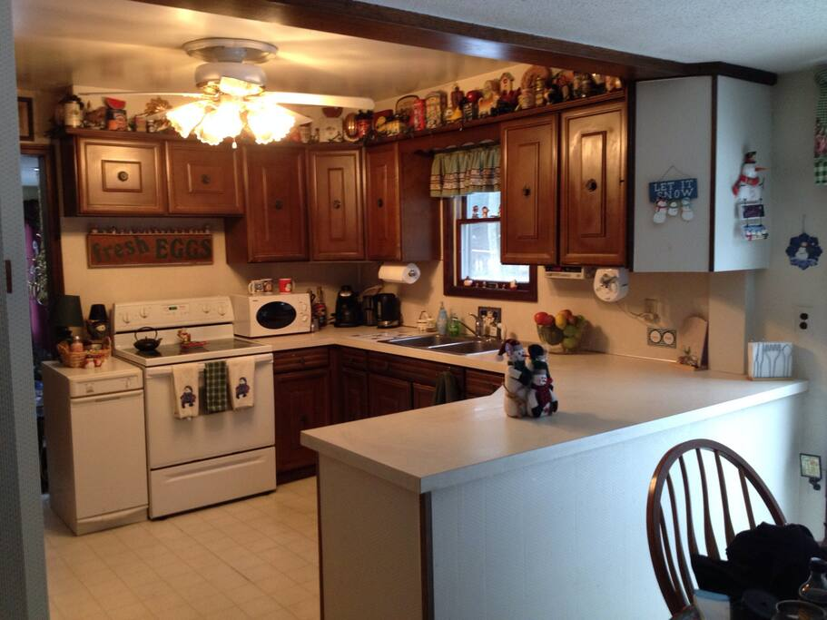 This is the kitchen. It has everything you need to make your stay comfortable and enjoyable.