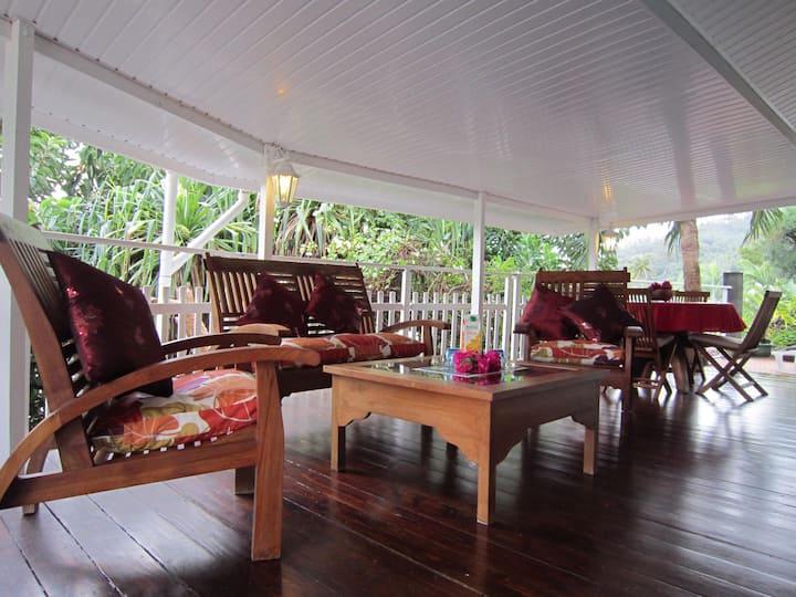 Bungalow Iti-climatisé-jolie vue lagon