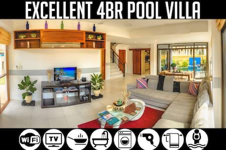 4BR Pool Villa near Bang-Tao Beach, sleeps 9+
