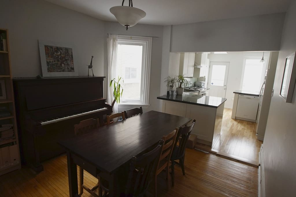 Recently tuned piano is in the dining room. :)