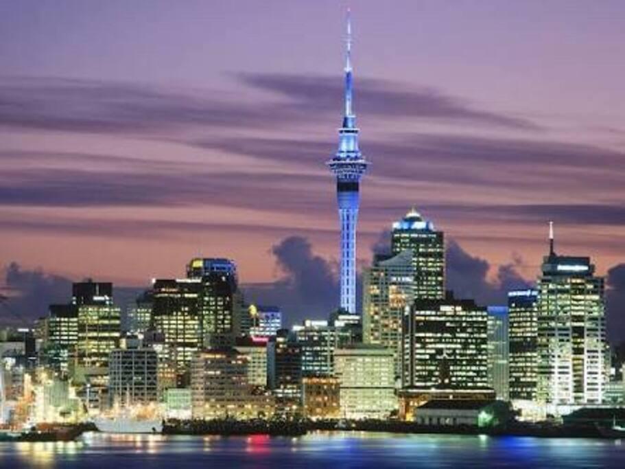 Auckland Skyline. 15min walk from home