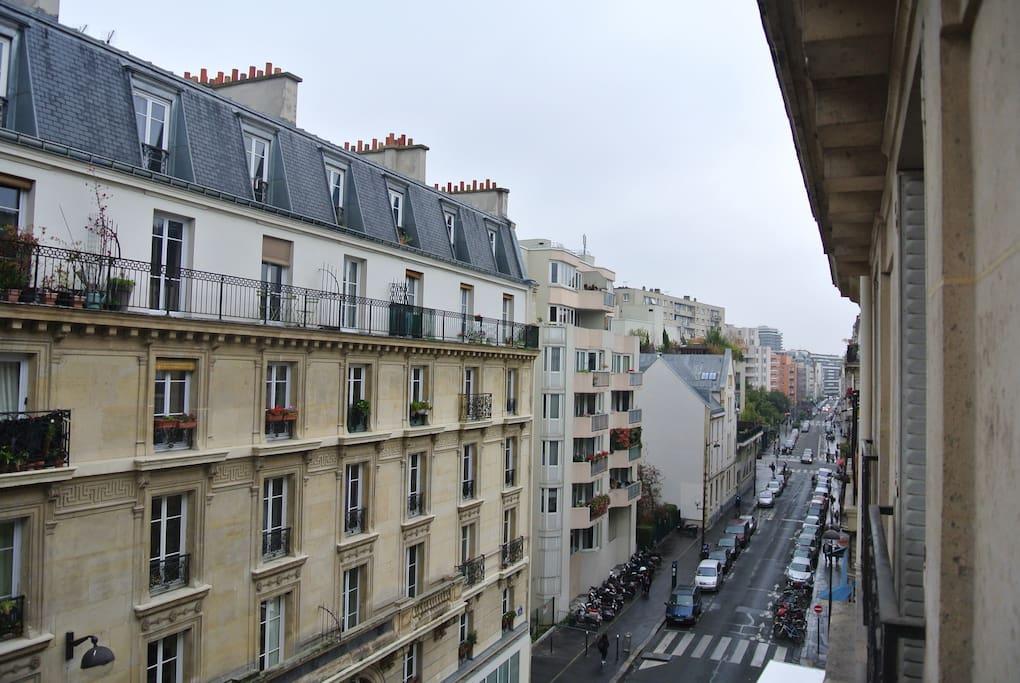 vue sur la Rue Saint Maur