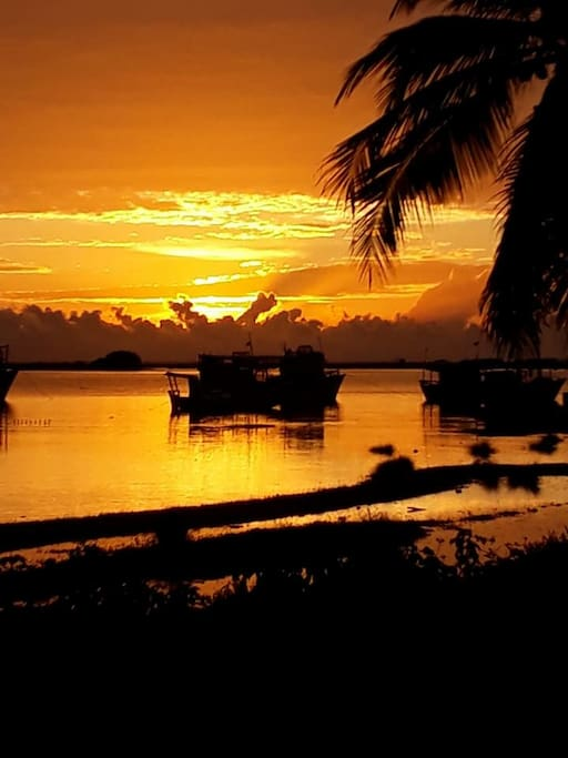 Amanhecendo na Ilha do Guajiru