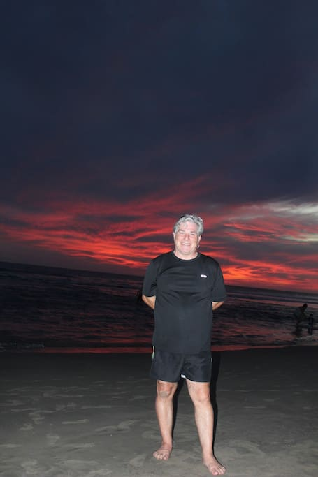 That's me on the beach Dec 2015 at sunset