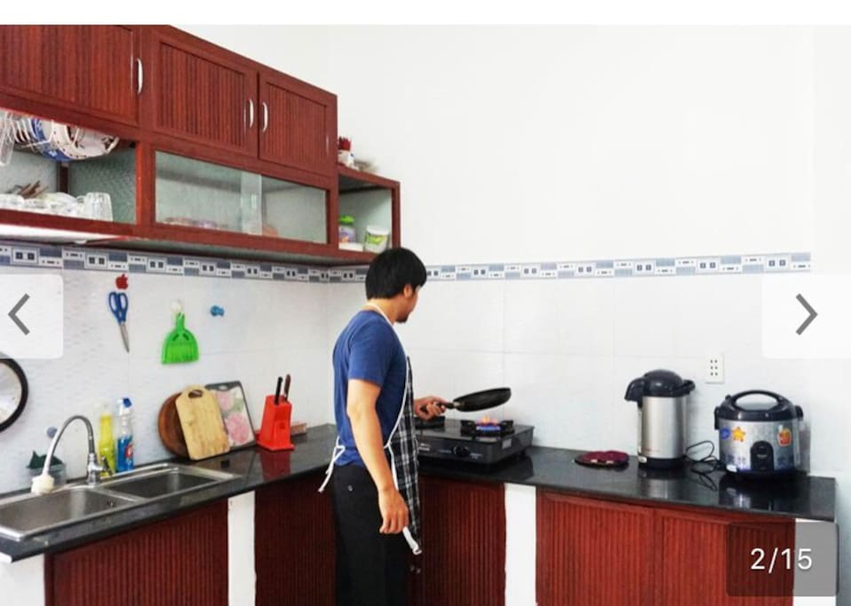 Kitchen with equiptments