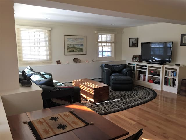 Living Room with big screen TV cable and wifi