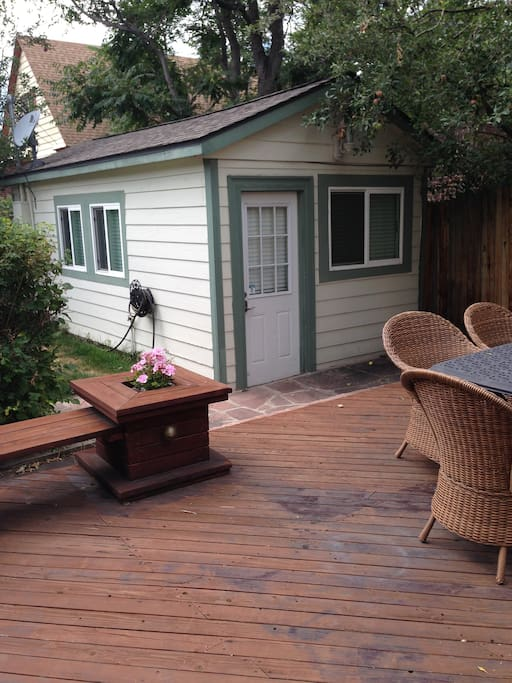 Guests are welcome to use the back deck.