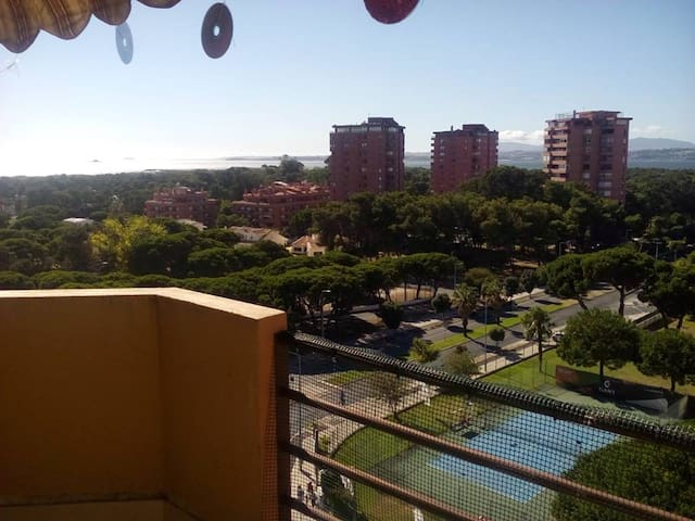 Vista da varanda/Balcony view