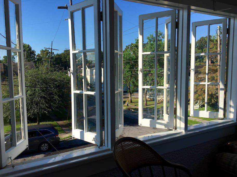 Sun room windows