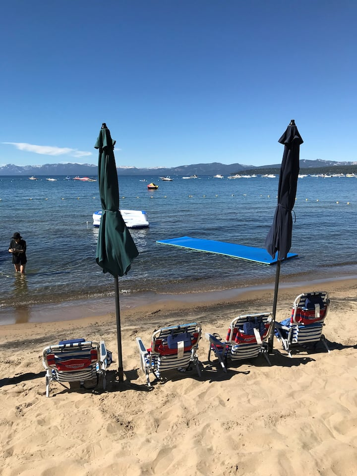 5 star N Lake Tahoe location near skiing/sledding