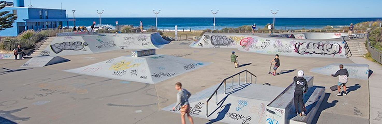 Local Skate Park, next to the beach