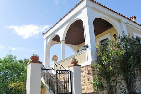 Spacious villa w/ sea views & WiFi - Limnos - Willa