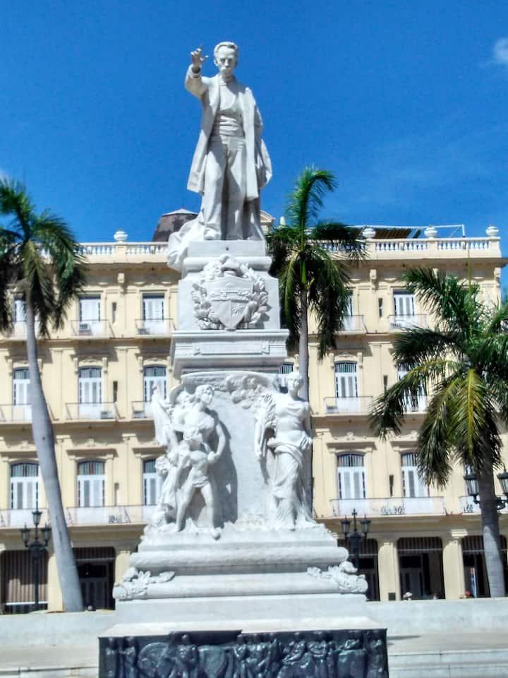 Estatua en el Parque Central