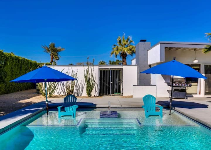 Iconic, Wexler-designed, mid-century home w/ 50-foot pool & attached spa!