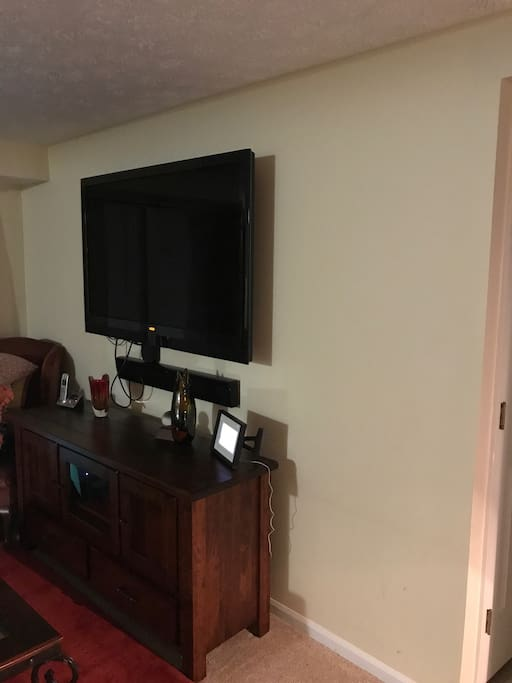Shared 55 Inch TV with cable and Apple TV