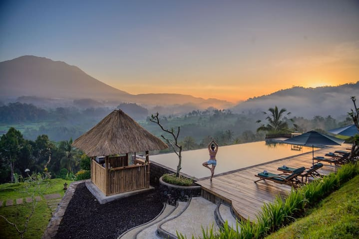 Amazing Bungalows with Jungle and Mt.Agung Views
