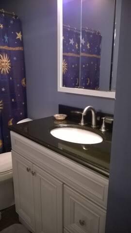 Spacious vanity sink