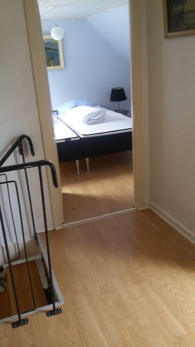 indgang til et af soveværelserne